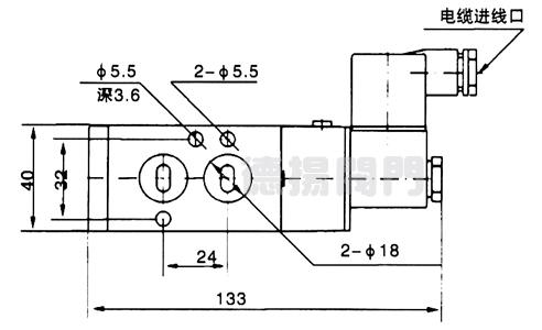 二位五通电磁阀配双作用式执行器图片