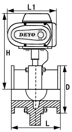 电动卫生级快接蝶阀连接尺寸图图片