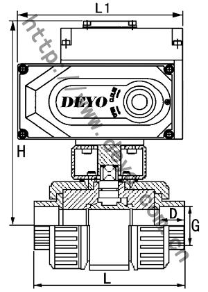 uq921f电动upvc球阀,电动塑料蝶阀图片