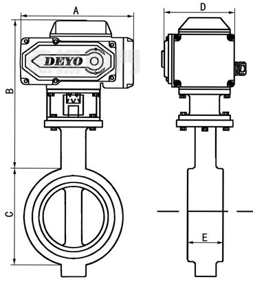 d971si电动卫生级蝶阀,电动食品级蝶阀,电动对夹式蝶阀图片